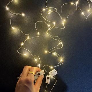 Dây đèn led trang trí fairylight đom đóm có sẵn pin dài 1m-2m-3,5m