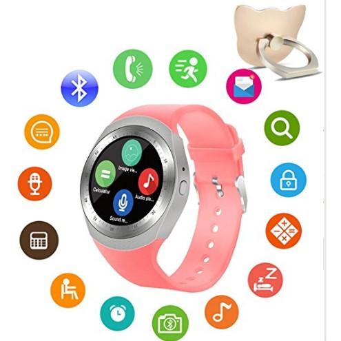 Đồng hồ thông minh mặt tròn thời trang Y1 hồng giá rẻ tặng giá đỡ hình gấu dễ thương - 15338131 , 1078486651 , 322_1078486651 , 250000 , Dong-ho-thong-minh-mat-tron-thoi-trang-Y1-hong-gia-re-tang-gia-do-hinh-gau-de-thuong-322_1078486651 , shopee.vn , Đồng hồ thông minh mặt tròn thời trang Y1 hồng giá rẻ tặng giá đỡ hình gấu dễ thương