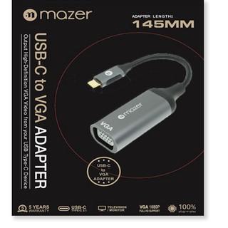 Bộ Chuyển Đổi Mazer ALU USB-C to VGA 1080P Adapter