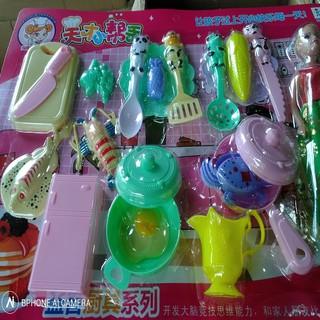 COMBO 20 Món bộ đồ chơi nấu ăn cho bé và 1 Búp bê xinh đẹp