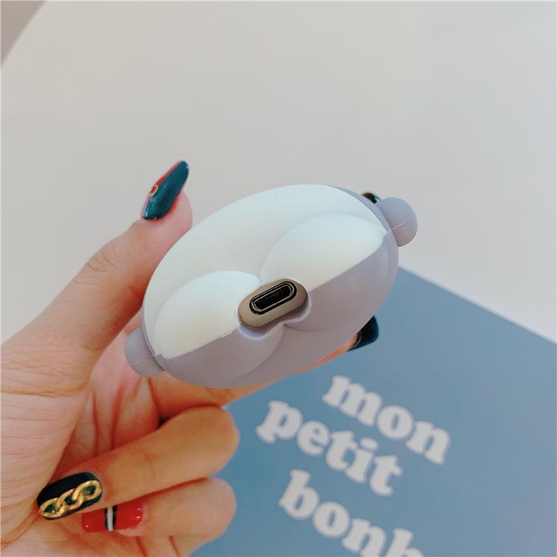 Vỏ hộp sạc tai nghe Airpods 1/2 bằng silicone chống sốc hình cá mập dễ thương