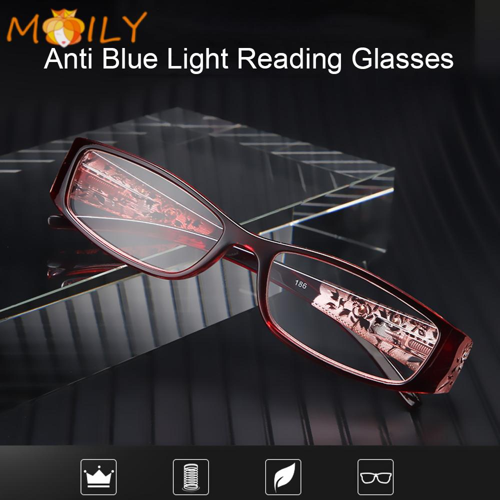 MOILY Men Women Fashion Presbyopic Eyewear Radiation Protection Computer Goggles Anti Blue Light Reading Glasses Vision Care Ultralight Anti-blue Rays...