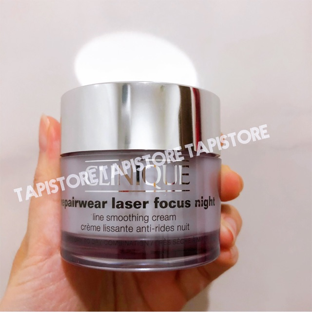 Kem dưỡng đêm Clinique Repairwear Laser Focus Night Line Smoothing Cream