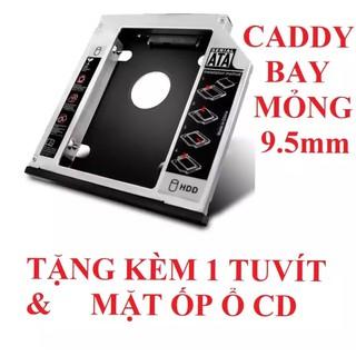 Caddy bay mỏng 9.5mm gắn thêm ổ cứng cho Laptop thumbnail
