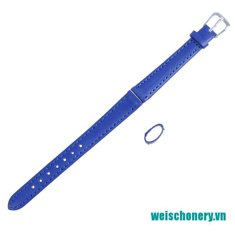 Dây Đồng Hồ Chất Liệu Da Pu Màu Trơn Weischoenyx 12mm