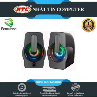 [Mã ELFLASH5 giảm 20K đơn 50K] Loa vi tính 2.0 cao cấp Bosston Z210 12W led RGB 7 màu Âm thanh cực hay-