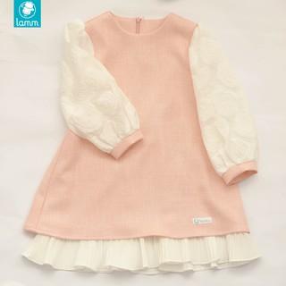 Váy tweed hồng phối tay trắng đuôi cá trắng xếp ly