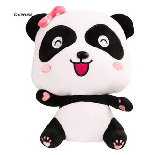 ღLOVEღCartoon Couple Panda Stuffed Doll Toy Soft Cuddling Throw Pillow Birthday Gift
