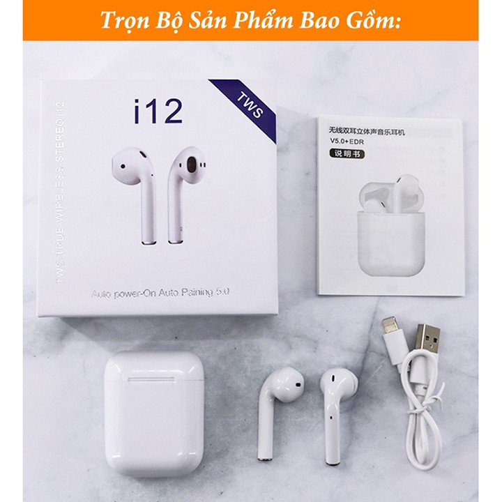 Tai Nghe Bluetooth Không Dây inpods i12 TWS Combo Vỏ ốp lưng Case Airpod Airpods Pro 1 2 IPhone