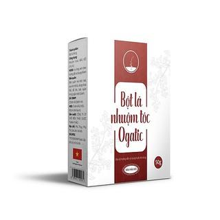 Bột lá nhuộm tóc Ogatic - Màu Nâu Đỏ - 100% từ thảo dược thiên nhiên, không hóa chất (50gr) thumbnail
