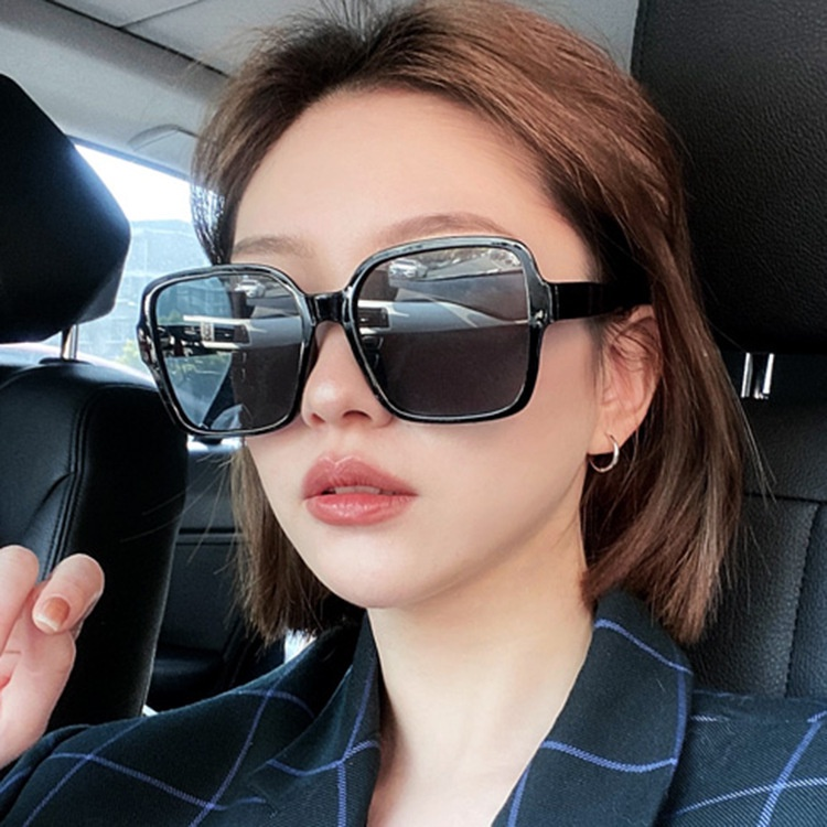 Fashion Big Box Thick Frame Sunglasses Retro Online Celebrity with Plain Sunglasses for Men and Women
