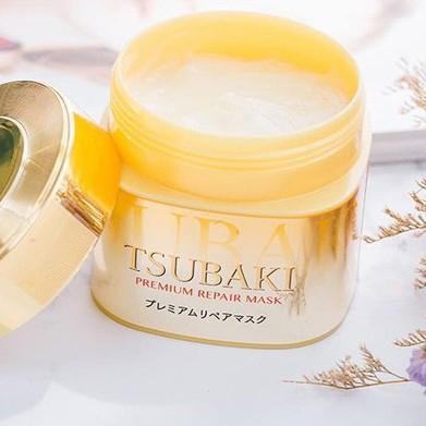 HẤP DẦU TSUBAKI - Premium Repair Mask 180g ( Hũ Vàng )