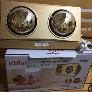 Đèn Sưởi Nhà Tắm Kohn KN02G và KP02G- Bảo hành 05 Năm