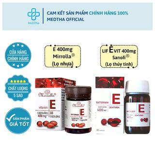 Vitamin E đỏ Nga 400mg - Hỗ trợ làm đẹp da, ngăn ngừa lão hóa (Hộp 30 viên) [Chính hãng] thumbnail