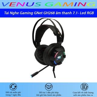 Tai Nghe Gaming GNet GH268 – Led RGB – Âm Thanh 7.1 Cổng USB – BH 12 Tháng chính hãng