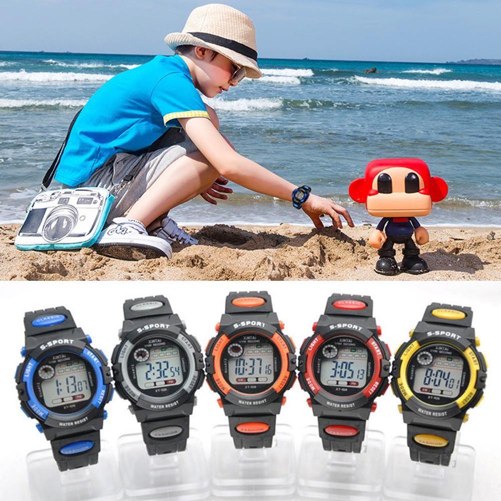 Cozyroomsa Multifunction Waterproof Child Boy Girl Sports Electronic Wrist Watch