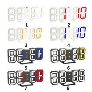 Đồng hồ Led kỹ thuật số 3D treo tường để bàn ánh sáng tùy chỉnh có chế độ ban đêm chất lượng cao