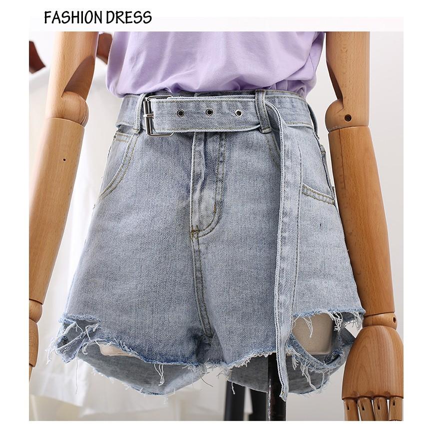 Quần Đùi Jeans Nữ Kèm Belt Cao Cấp