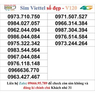 Sim Viettel V120 đầu 09 số đẹp giá rẻ 31