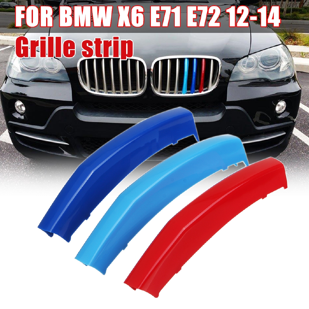 Front Kidney Grill Grille Cover Clip 3 Colors For  BMW X6 E71 E72 2012-2014