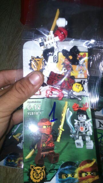 Lắp ráp 8 hộp Nonlego Ninja đại chiến với quỷ 818 trọn bộ