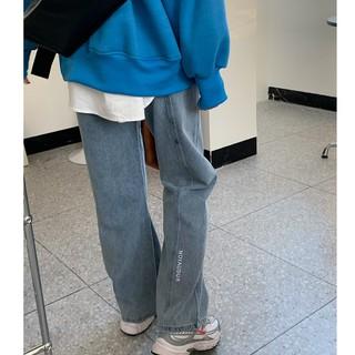 Quần Jeans Ống Rộng Lưng Cao Size Lớn Thời Trang Xuân Thu Dành Cho Nữ 2021
