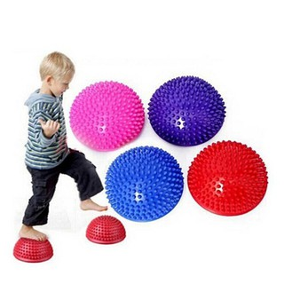 ☃BRL☃ 2Pcs Hemispheres Stepping Stone Massage Ball Kids Sensory Balance Training Toys [LT]