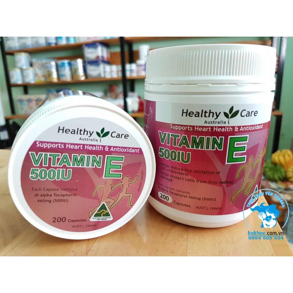 Vitamin E 500iu - Healthy Care: Viên bổ xung vitamin E - 200v - Úc - 2492655 , 776345888 , 322_776345888 , 400000 , Vitamin-E-500iu-Healthy-Care-Vien-bo-xung-vitamin-E-200v-Uc-322_776345888 , shopee.vn , Vitamin E 500iu - Healthy Care: Viên bổ xung vitamin E - 200v - Úc