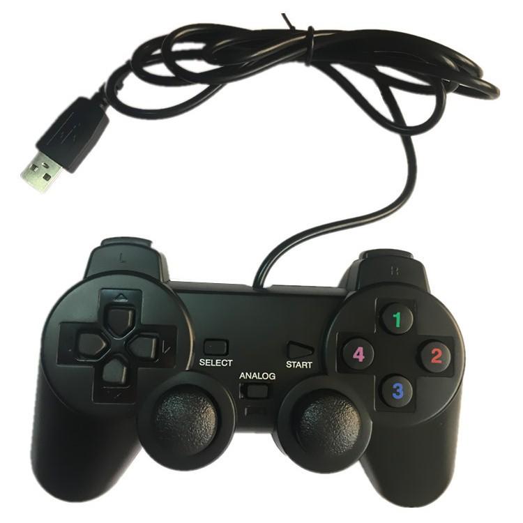 (Có hộp) Tay cầm chơi game PS2, PS3, PS4 kết nối USB cho PC / Laptop (có chế độ rung)