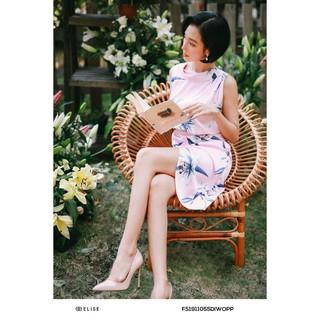 Đầm hồng họa tiết thiết kế Elise thumbnail