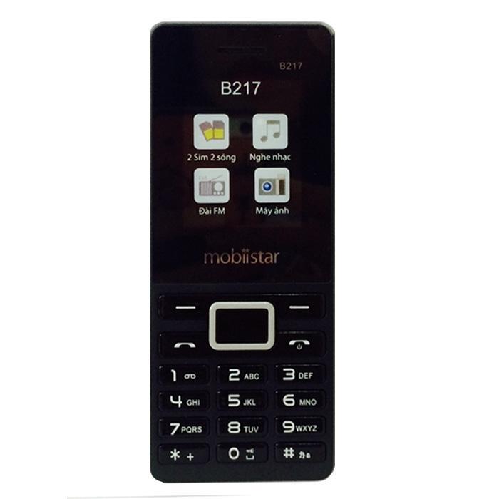 ĐTDĐ Mobiistar B217 2 SIM (Đen Xám)