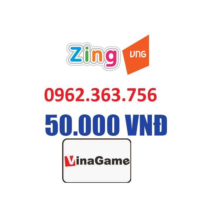 Thẻ Zing 50k, Thẻ ZingXu , Thẻ VinaGame , Thẻ Zing VinaGame (có seri + mã)