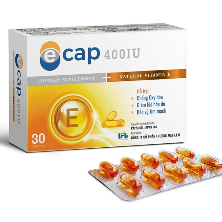 Vitamin E 400IU Tự nhiên chất lượng Nhật Bản Ecap