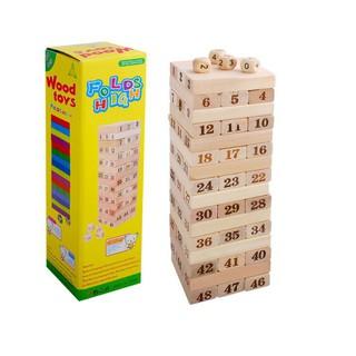 Rút gỗ số thông minh 48 thanh loại to – Domino gỗ cho bé Obán xong