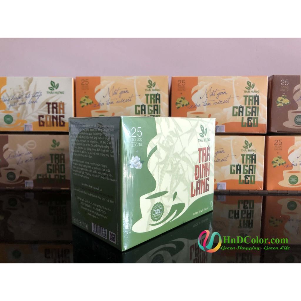 [CHÍNH HÃNG] Trà Đinh Lăng Thái Hưng (trà thảo dược, 100% tự nhiên, hộp cao cấp) - tăng tuần hoàn não, giúp ngủ ngon