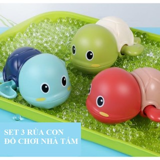 Đồ chơi nhà tắm Rùa con biết bơi, rùa vặn cót thumbnail