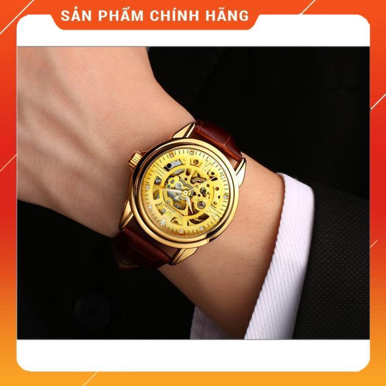 ⏰FREESHIP⏰ Đồng hồ nam fngeen cơ dây da sang trọng kích thước mặt 38mm