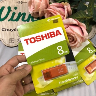[Mã ELFLASH5 giảm 20K đơn 50K] Usb Toshiba 8Gb chính hãng U202 2.0 mới - Bảo hành 24 tháng