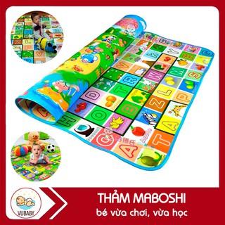 Thảm xốp cao cấp Maboshi loại 2 mặt 1.8x2m, Thảm cho bé chơi và học