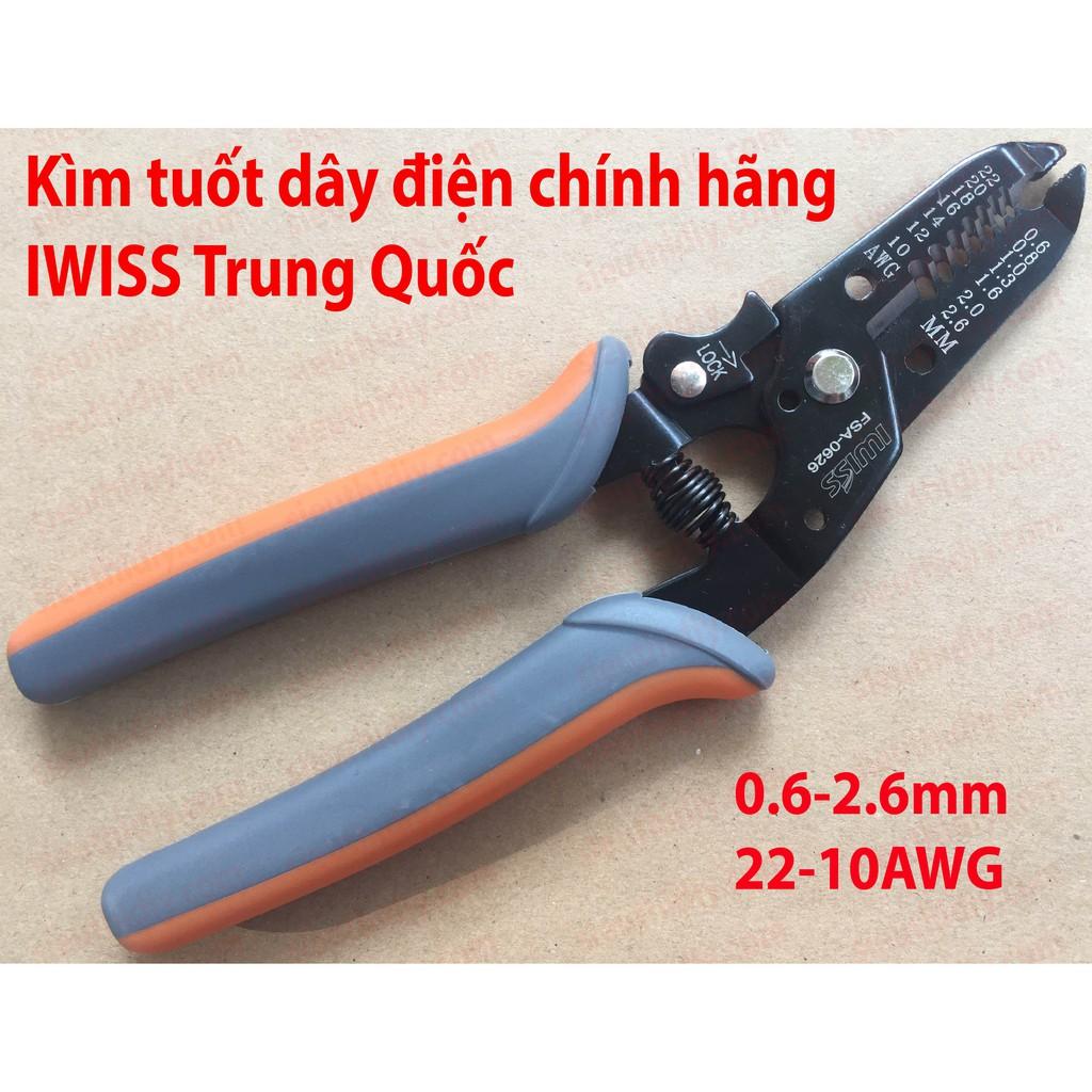 Kìm tuốt dây điện chính hãng IWISS 0.6-2.6mm