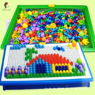 ETXK✔ Creative Peg Board with 296 Pegs