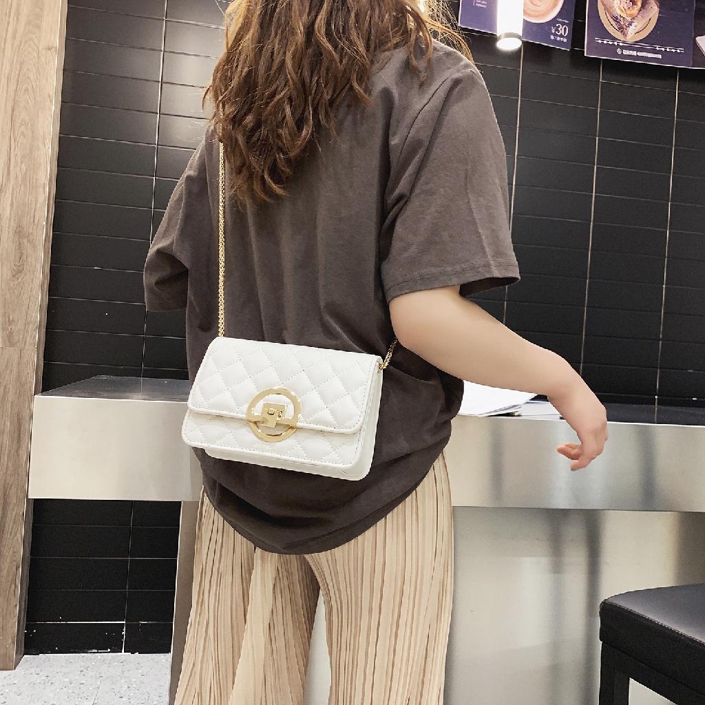 [ẢNH THẬT] Túi xách đeo chéo trần trám khóa tròn siêu sang_A147