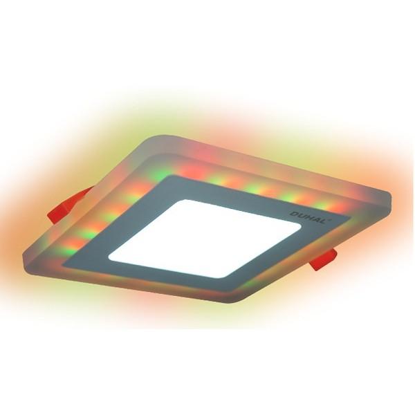 Đèn âm trần led panel màu- đổi màu 18W DUHAL Hàng Việt Nam Chất Lượng Cao DMV518