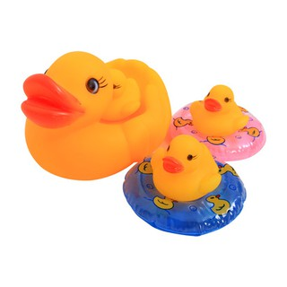 Đồ chơi Vịt mẹ 3 con và 2 phao bơi