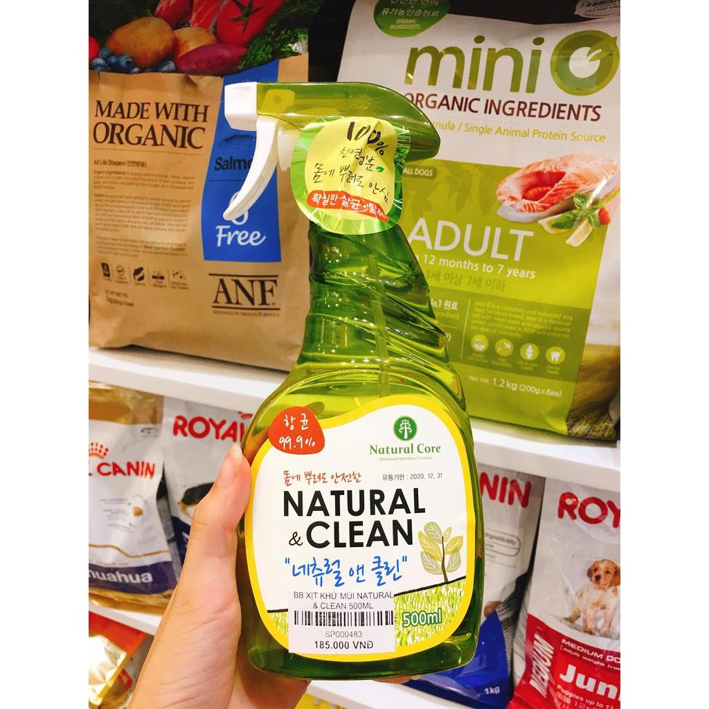 [HCM]Natural & Clean Xịt khử mùi diệt khuẩn đồ dùng cho chó mèo 500ml