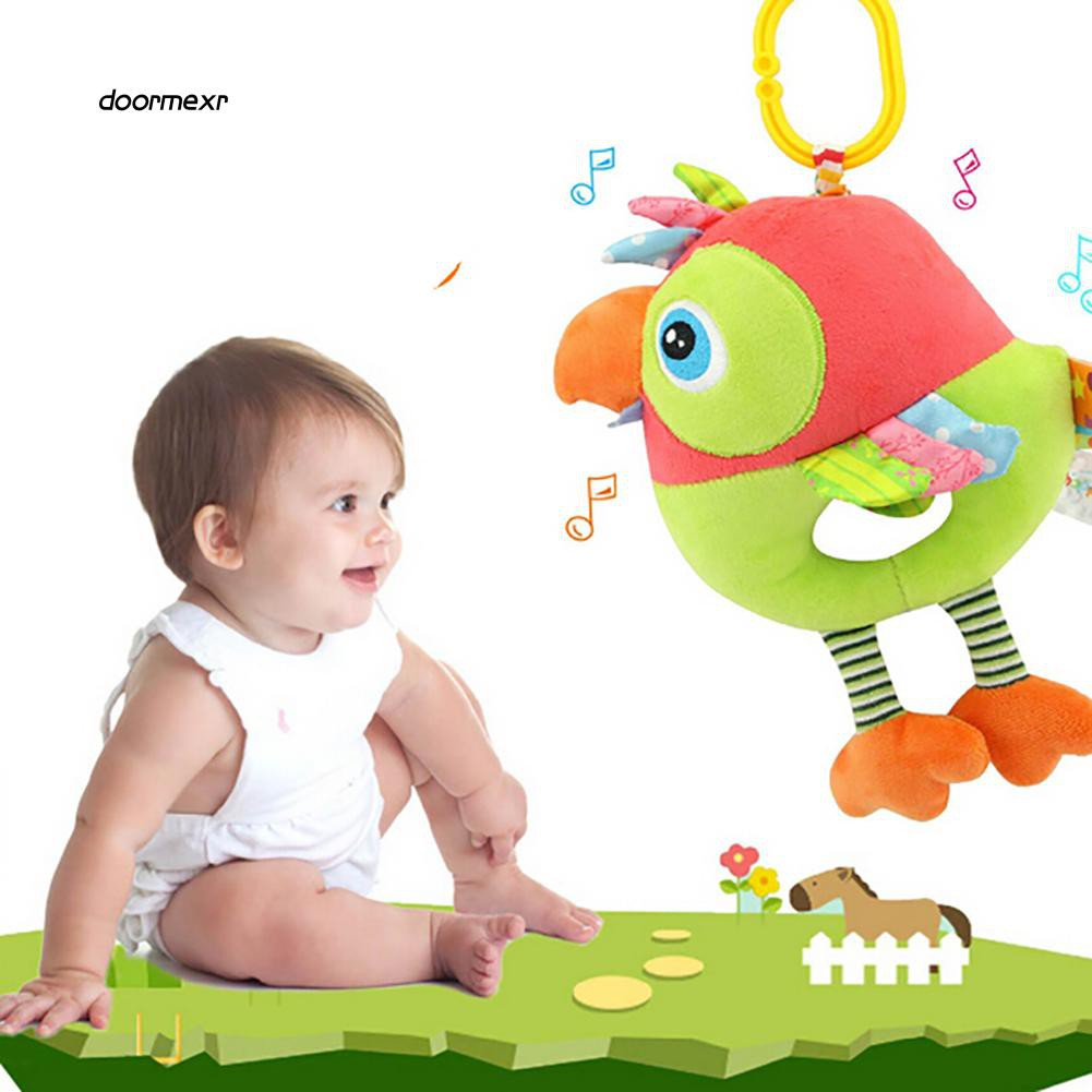 DOOM_Cute Cartoon Duck Owl Bird Baby Infant Crib Hanging Doll Wind Bell Rattle Toy