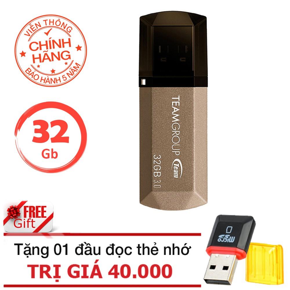 USB 3.0 32Gb Team Group C155 - Chính hãng tặng đầu đọc thẻ (Ngẫu nhiên)