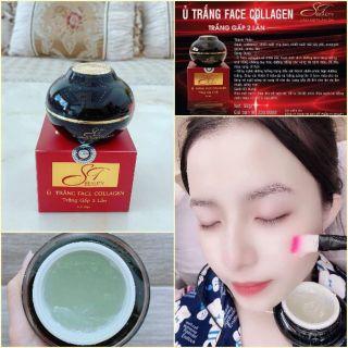 Ủ Trắng Face Collagen ST / Mỹ Phẩm ST Beauty ( Mặt Nạ Ủ Trắng Da Trắng Gấp 2 Lần)