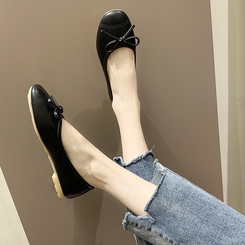 Giày búp bê phối nơ thiết kế đáng yêu cho phái nữ