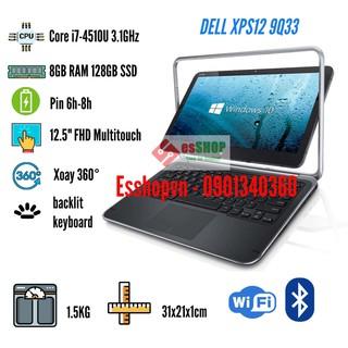 Laptop cảm ứng xoay 360 DELL XPS12 9Q33 12.5 inch Core i7-4510U 8GB RAM 128GB SSD siêu mạnh mẽ – màn hình lỗi nhẹ